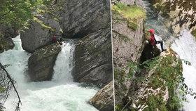 Čeští vodáci vjeli do vodopádu, zachraňovat je musel vrtulník