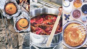 Kempinková kuchařka pro vášnivé cestovatele! Recepty do jednoho hrnce, na gril i přímo do ohniště!