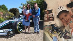 """Chlapeček (†5) zemřel na rakovinu: """"Zazračný andílek"""", přezdíval ho jezdec F1 Hamilton"""