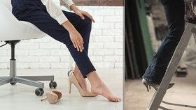"""Peticí proti podpatkům v práci: Skupina žen chce """"utrpení na jehlách"""" řešit s vládou"""