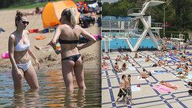 Velký přehled pražských koupališť: Kde se v tropických vedrech zchladit?