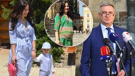 """Těhotná žena kancléře Alex Mynářová: """"Jméno teď vyberu já."""" A doufá v happyend po potratu"""