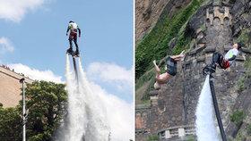 VIDEO: Denis Vantuch (19) skočil z 10 metrů do Vltavy. Pod Vyšehradem je mělko