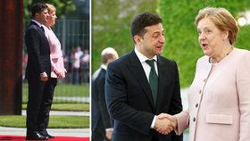 Záchvat Merkelové a strach o její zdraví: Silně se roztřásla na červeném koberci