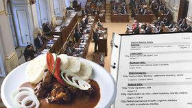 """Hlavní jídlo za """"pade"""", zmrzlina za 9 korun: Poslanci dál hodují za hubičku"""
