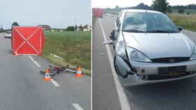 Na Písecku zemřel nezletilý cyklista: Zřejmě nedal přednost řidičce
