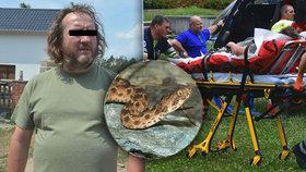 Muž uštknutý exotickou zmijí: Nevíme, kde se tam vzala, říkají úřady