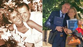 Politické oslavy: Klausova zrzka otevřela svatební album a hejtman má s manželkou titul