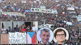 Demonstrace Letná 2019: Po konci Babiše a Benešové volalo 250 tisíc lidí