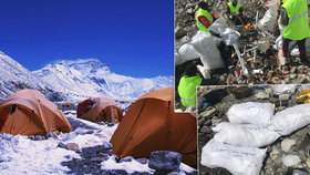 Hory odpadků a 8000 kilo exkrementů: Po horolezcích na Everestu zůstává obří nepořádek