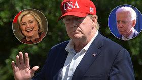 """Lepší """"ospalý Joe"""" než """"nelítostná Hillary"""", tvrdí Trump. Volební prohru nepřipouští"""