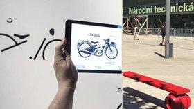 Výstava s mobilem v ruce: Změť čar před knihovnou v Dejvicích ohromovala v Číně, Šanghaji a Tokiu