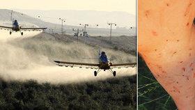 Chorvatsko proti komárům nasadilo letecký postřik: Příznakem otravy je pálení v krku