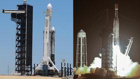 Nejsilnější raketa na světě odstartovala. Do vesmíru vynesla 24 družic