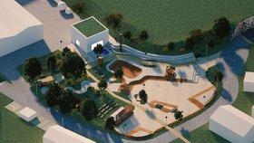 Skatepark, letní kino a parkour: Řeporyje představily návrh na nahrazení odkladiště