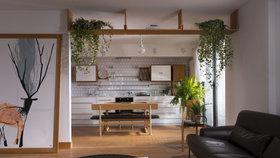 Kousek lesa ve městě! Apartmán pro malou rodinu zdobí kapradí a jedle