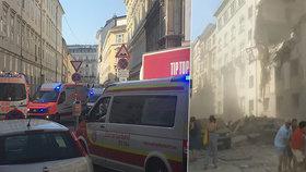 Masivním výbuch v centru Vídně má dvě oběti. Záchranáři našli tělo mladého muže