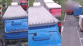 Neuvěřitelný manévr kamioňáka: Tři náklaďáky drze předjel na přejezdu