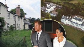 Dvě oranžerie a soundsystém za 6 milionů! Tak Meghan s Harrym zrekonstruovali svůj dům od královny