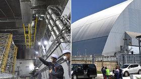 Úniku radiace z Černobylu brání nový sarkofág, platili ho i Češi. Původní zrezl