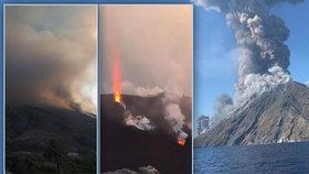 V Itálii zabíjí sopka: Turistu zasáhlo žhavé kamení, vyděšení lidé prchali do moře