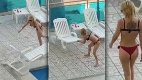 Šílená blondýnka rozpoutala v dovolenkovém ráji hotové peklo. Na hotelu byste s ní být nechtěli