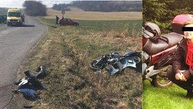 Motorkář Pepa zahynul po srážce s předjíždějícím autem: Do osmnáctin mu chyběl jediný měsíc