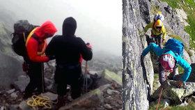 V Tatrách se ztratili čeští horolezci: Vrtulník se k nim kvůli větru nedostal
