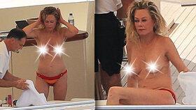 Melanie Griffithová (61): Podnikavá dívka nahá zvládá šipku i prsa