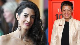 Žena Clooneyho se ujme případu reportérky. Šla po prezidentovi, hrozí jí deset let