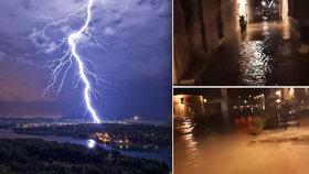 Chorvatské pobřeží zasáhla tsunami: Dalmácii rozsvítilo 26 tisíc blesků za 2 hodiny