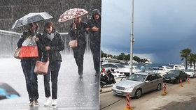 """Bouřky a kroupy po Chorvatsku udeří i v Austrálii. """"Bude hůř,"""" varuje předpověď"""