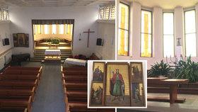 """S přestávkou slouží pacientům téměř 90 let. Nemocniční kapli v """"Thomayerce"""" zdobí oltář z válečných zákopů"""