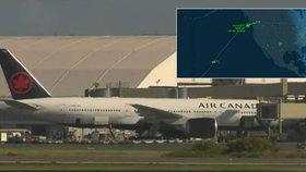 Turbulence během letu z Kanady vyhazovaly lidi ze sedadel: 35 zraněných