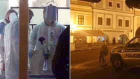 Manželku měl v rychnovské restauraci střelit do hlavy místní novinář: Žena zemřela v nemocnici