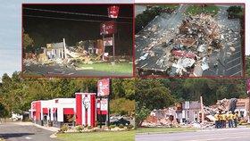 Exploze roztrhala KFC na kusy. Trosky létaly vzduchem, z budovy téměř nic nezbylo