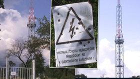 Dívka lezla na vysílač: V 80 metrech ji zasáhl proud
