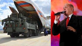 Erdogan nasadí protiraketový systém S-400 v dubnu 2020. Spojence naštval