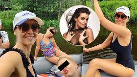 Kubelková vyrazila s rodinou na vodu: Modelku v sobě nezapře, pózuje i na lodi