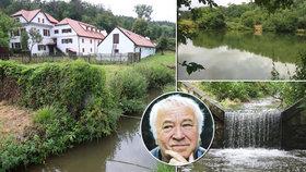 Nejstarší mlýny stály na potoce u Prahy: Jeden mlel jen občas, ve druhém se utopil syn herecké legendy