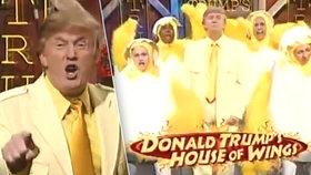 Trump ve žlutém obleku tančil s kuřaty: Hlavu USA na síti doběhlo bizarní letité video