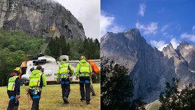 Dva Češi spadli z nejvyšší stěny v Evropě: Záchranáři se k nim nemůžou dostat!