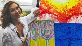 Svým obrazem předpověděla miminko. Zuzana (40) na plátna přenáší své vnitřní optimistické světy