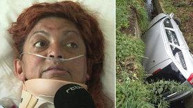 Zraněná žena přežila 6 dní veder nehybná v autě: Nedokázala si po nehodě přivolat pomoc