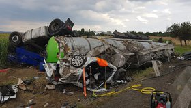Strašlivá nehoda u Čáslavi: Z rozmáčknutého auta přežila jen Gábinka (4), policie už zná viníka