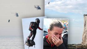 Francouz přeletěl La Manche na Flyboardu. Zvládl to za 20 minut a rozplakal ženu