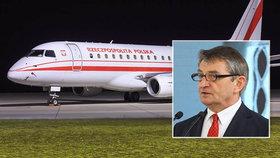 """Létal vládním speciálem s rodinou, """"půjčil"""" ho i manželce. Skandál šéfa Sejmu otřásá Polskem"""