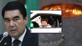 """Prezident hasí zvěsti o vlastní smrti. Jako důkaz obkroužil """"Bránu do pekla"""""""