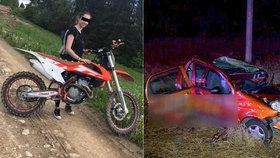 Motorkářka Natálka (†18) zemřela při bouračce s dovolenkáři: Právě se vraceli z Chorvatska