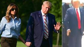 """""""K noze!"""" Trump šokoval přivoláním Melanie, kritici mu vyčetli """"ponižující gesto"""""""